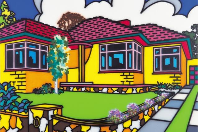 Howard Arkley, Family Home – Suburban Exterior, 1993. Monash University Collection, Monash University Museum of Art, Melbourne.