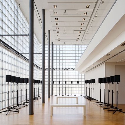 <em>The Forty Part Motet</em> (2001), a solo work by Janet Cardiff.