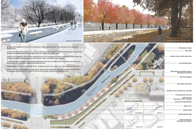 Images from the selected design for the Canterbury Earthquake Memorial.
