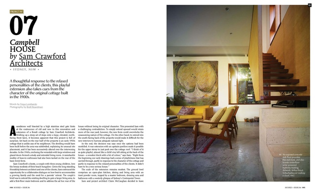 A preview from the magazine: Campbell House by Sam Crawford Architects.