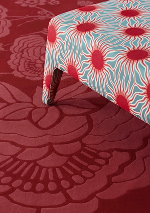 Paradiso Helios in Red Coral by Catherine Martin for Mokum.