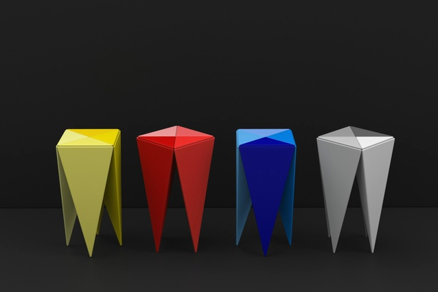 Chatterbox stools designed for Adam Goodrum Studio, 2011.