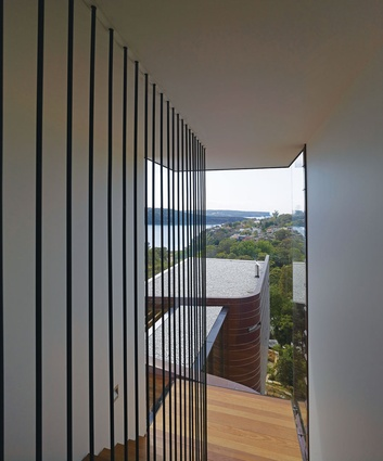 Steep views from the staircase add an element of drama.