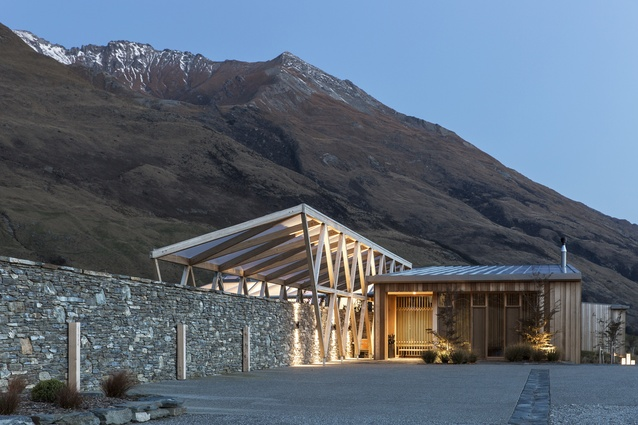 Commercial Architecture category finalist: Aro Ha Wellness Retreat, Glenorchy by Tennent+Brown Architects.