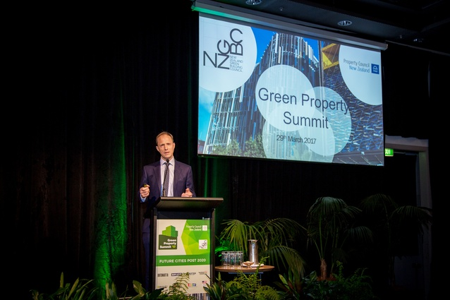 Andrew Eagles, CEO of the NZGBC, welcomes delegates to the Green Property Summit.