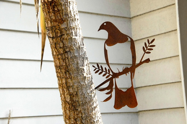 'Kereru' Metal Bird by Phil Walters.