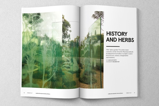 A spread from <i>Landscape Architecture Australia</i> issue 153, February 2017.