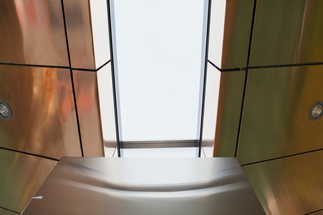A skylight in the prototype of the Sydney CBD and South East Light Rail stops by Grimshaw Architects.