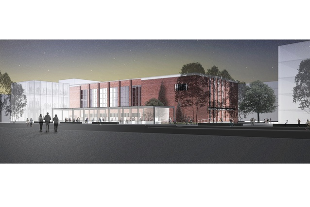 Render of Broadmeadows Town Hall by KTA. Currently in progress.