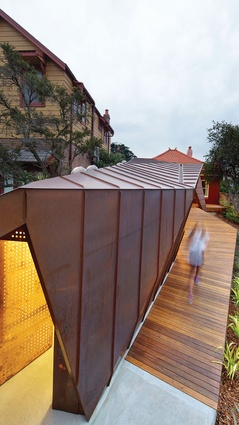 Copper treats wrap the roof plan as a fifth elevation.