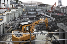 Building an underground car park on a hazardous site - Holy excavation