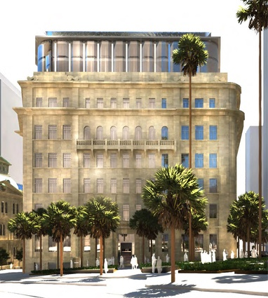 The proposed design for the Department of Education building by Make.