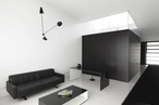 Black and white house in Sydney's Surry Hills