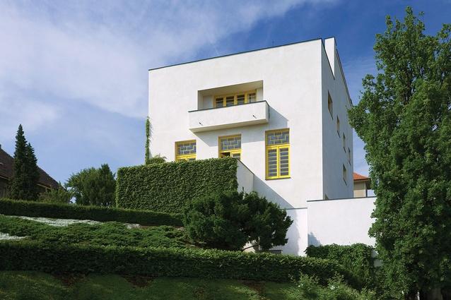 Adolf Loos, Villa Müller (1928–1930), Prague. Garden facade.