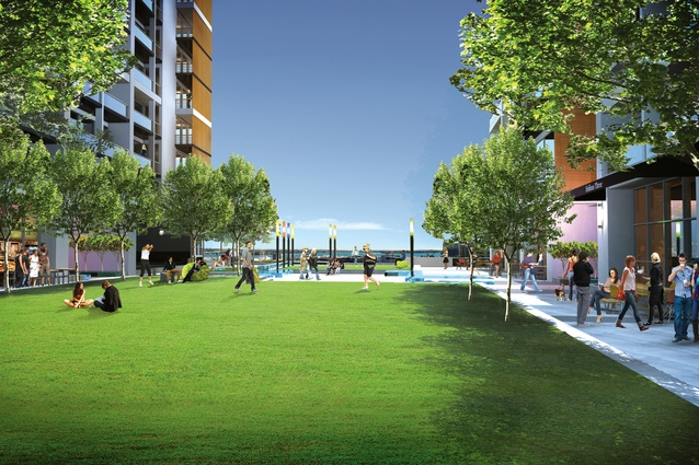 Considerable landscaping will provide green spaces for tenants.