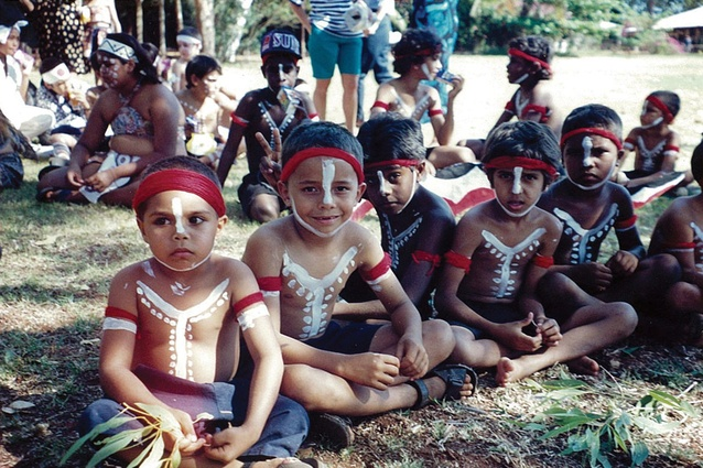 Yawuru Boys dressed for Ceremony.
