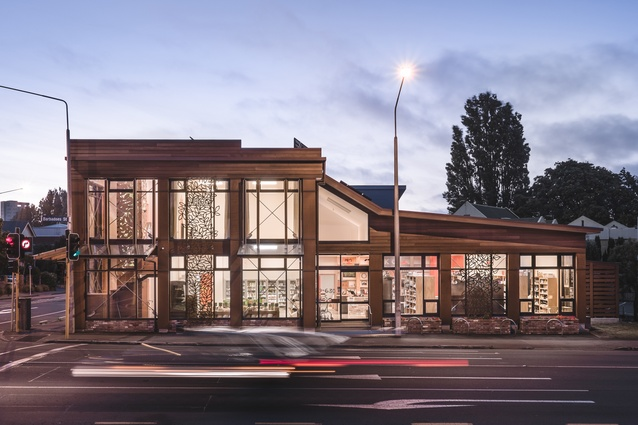 PIKO Wholefoods in Christchurch by Solarchitect Ltd. A passive solar and photovoltaic solar powered commercial building.
