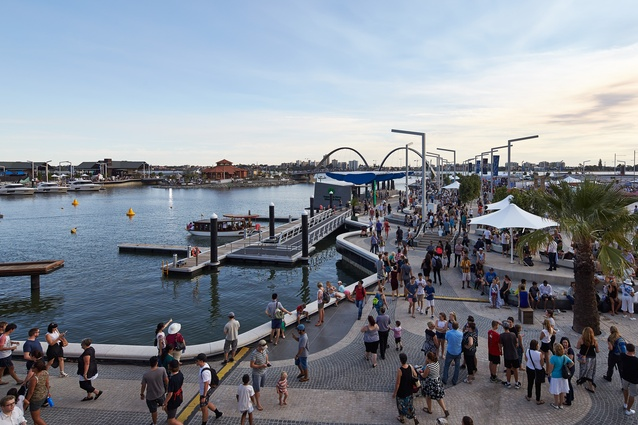 The ferry terminal at Elizabeth Quay by ARM Architecture and Taylor Cullity Lethlean.