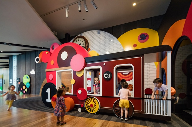 Meet me at the train! Welcome to the Pauline Gandel Children's Gallery, Melbourne Museum by Design Studio, Museum Victoria.