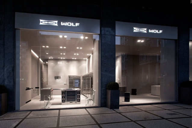 Sub Zero and Wolf's showroom in Milan.