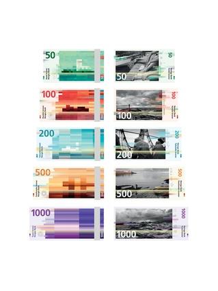 Snøhetta's designs for the new Norwegian Krone banknotes.