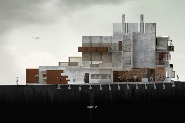 Finalist: Student – Raimana Jones (UoA) – Architecture of Coexistence: Regenerating Royal Oak through Urban Acupuncture.