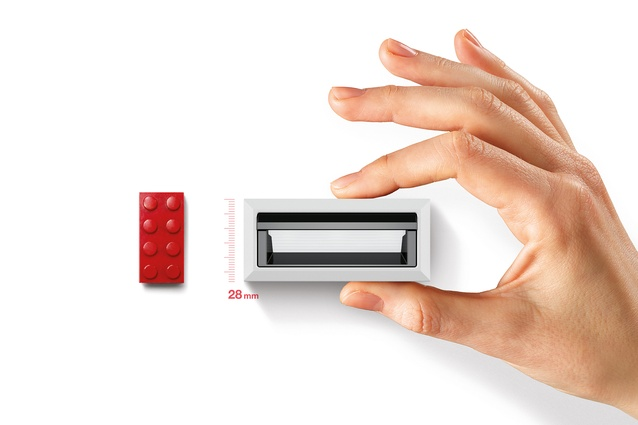 The same size as Lego: illustrating how small iGuzzini's 'The Blade' downlight truly is.