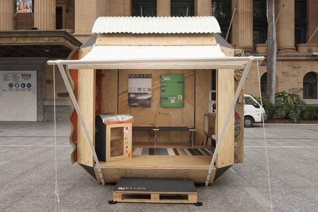 A shelter by Neylan at the Brisbane exhibition.