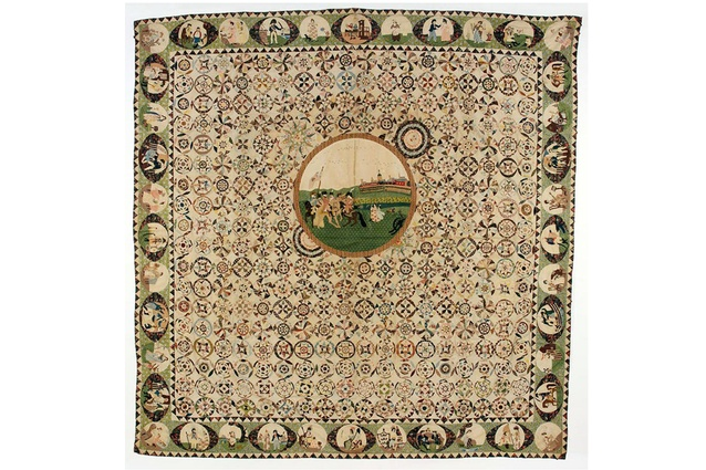Maker unknown, Britain. Coverlet 1803-05. Given by Gertrude S. Ferraby.