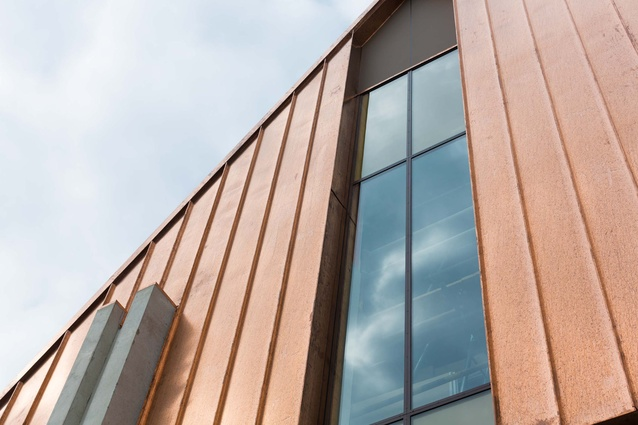 The exterior is clad in copper.