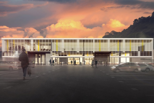 Visualisation for the ARISE Centre, Lower Hutt by bbc architects. 2015.