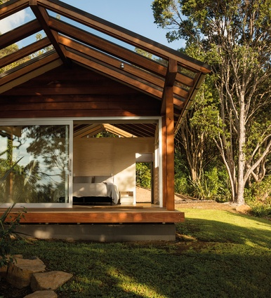 Perforations in the internal walls create views  right through the structure.