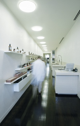Aesop's first store opened in 2004 on a ramp that leads to an underground carpark in the Melbourne suburb of St Kilda.