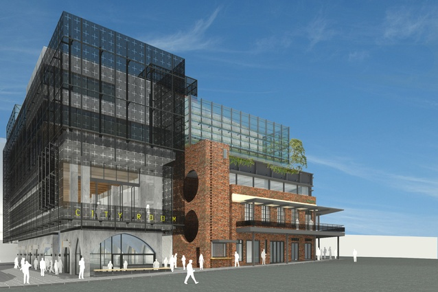 The proposed community building in the Munro site redevelopment designed by Bates Smart and Six Degrees Architects.