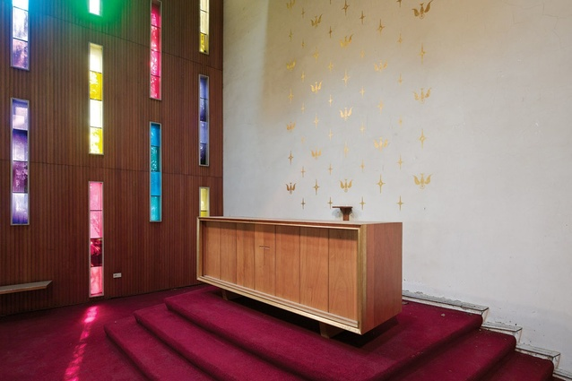The empty altar.