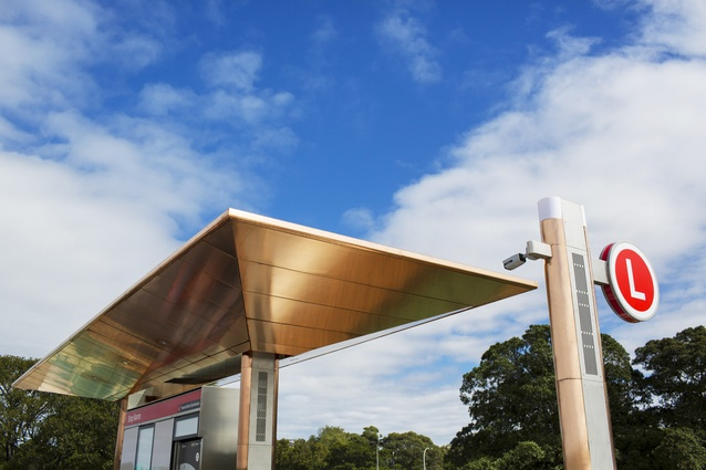 A prototype of the Sydney CBD and South East Light Rail stop by Grimshaw Architects.