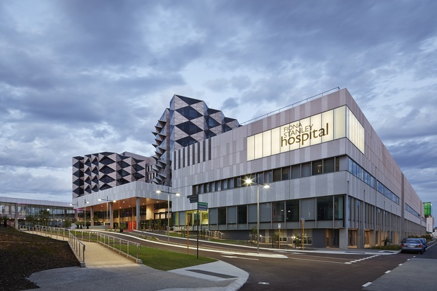 Fiona Stanley Hospital – Main Hospital Building (WA) by The Fiona Stanley Hospital Design Collaboration (comprising Hassell, Hames Sharley and Silver Thomas Hanley).