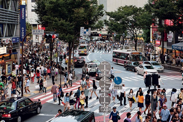 Rush hour in Shibuya.