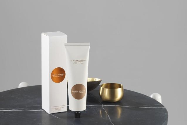 Ingrid Starnes Vetyver Bergamot hand cream, valued at $49 and free with your <em>Urbis</em> Oct/Nov subscription deal.