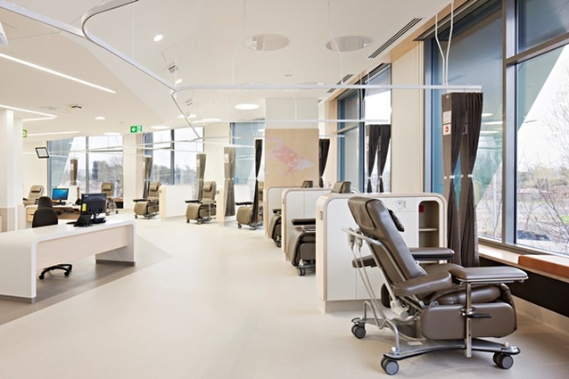 Inside the Albury Wodonga Regional Cancer Centre designed by Billard Leece Partnership.