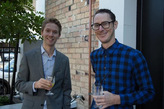 Oliver Backhouse of Backhouse Interiors and Michael Barrett, editor of <em>Interior</em>.