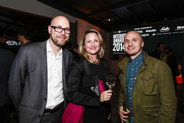 L to R: David Craven of NZGBC, Thalea Carruthers and Scott Compton of Warren and Mahoney Architects.