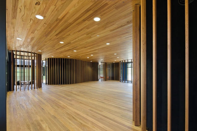 Inside the new Narbethong Community Hall.