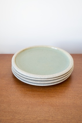 "Paul Melser plate set: ""I picked this up on one of my many trips to Paul's studio in Masterton. It was only due to his commercial commitments that we weren't able to stock him at the store."""