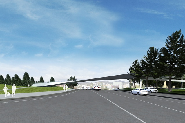 The proposed Tasman Highway Memorial Bridge by Denton Corker Marshall.