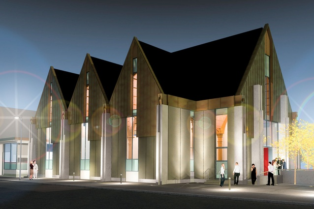 An artist's impression of the completed church.