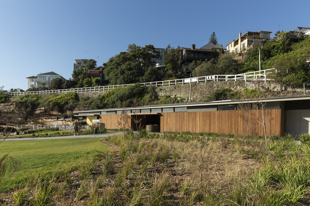 The kiosk by Lahznimmo Architects is supported by Waverley Council's replanting of the park.