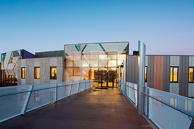 Rangi Ruru Girls' School Science Centre, General Academic Building and Gibson Centre, designed by McIldowie Partners.