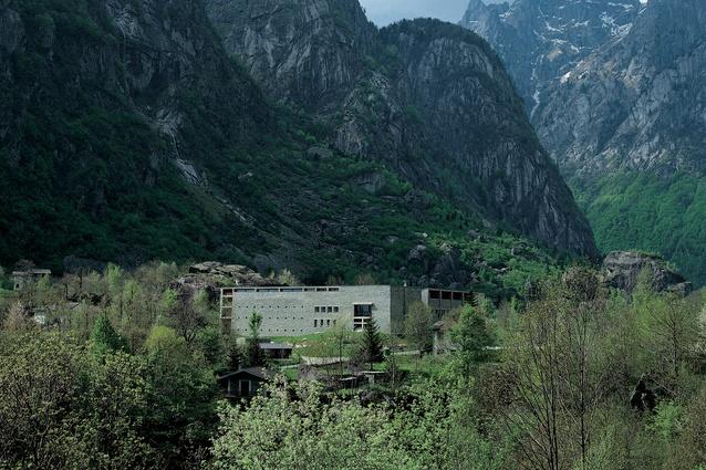 Casa Delle Guide Alpine Lodge in Valmasino Sondrio, Italy, designed by Gianmatteo Romegialli.