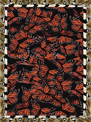A wild mix of monarchs, snakeskin and zebra stripes.